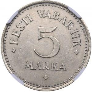 Estonia 5 marka 1924 - NGC AU Details