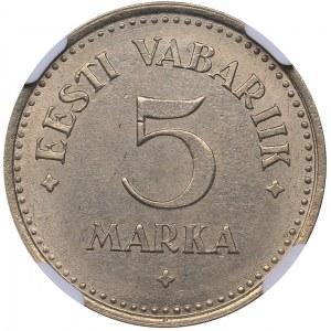 Estonia 5 marka 1924 - NGC MS 62