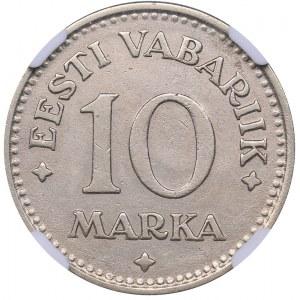 Estonia 10 marka 1925 - NGC AU Details