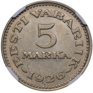 Estonia 5 marka 1926 - NGC MS 61