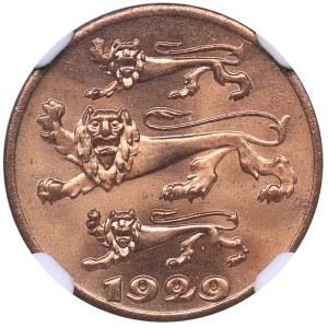 Estonia 1 sent 1929 - NGC MS 65 RD