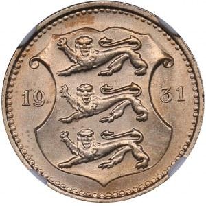 Estonia 10 senti 1931 - NGC MS 65