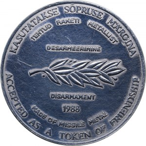 Estonia medal Estonian peace commitee, 1988