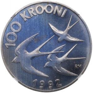 Estonia 100 krooni 1992 - NGC PF 67