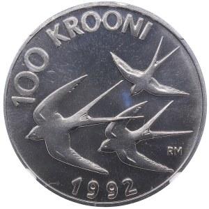 Estonia 100 krooni 1992 - NGC PF 69
