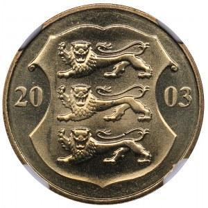 Estonia 1 kroon 2003 - NGC MS 66