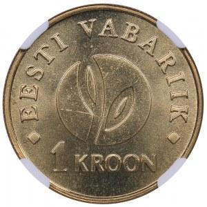 Estonia 1 kroon 2008 - NGC MS 67