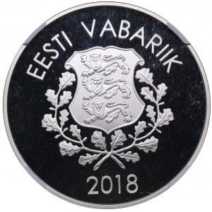 Estonia 10 euro 2018 - Olympics - NGC PF 70 Ultra Cameo