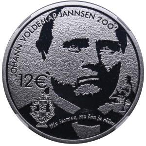 Estonia 12 euro 2019 - J. Jannsen - NGC PF 69 Ultra Cameo