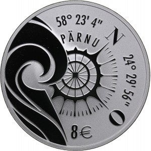 Estonia 8 euro 2021 - Pärnu