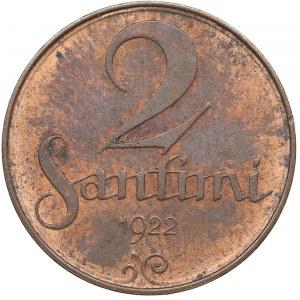 Latvia 2 santimi 1922