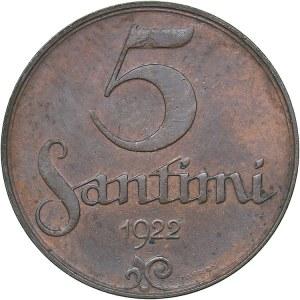 Latvia 5 santimi 1922