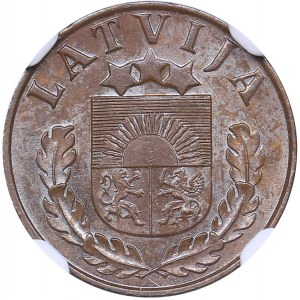Latvia 1 santims 1938 - NGC MS 62 BN