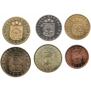 Latvia lot of coins 1992-2009 (6)