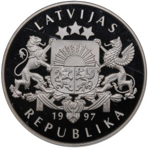 Latvia 10 latu 1997 - PCGS PR69DCAM