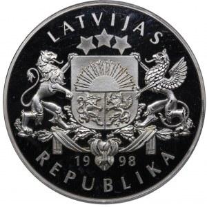 Latvia 10 latu 1998 - PCGS PR68DCAM