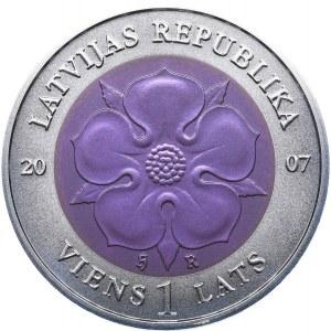 Latvia 1 lats 2007