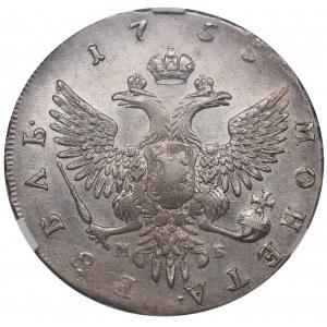 Russia Rouble 1755 ММД-МД - ННР AU55