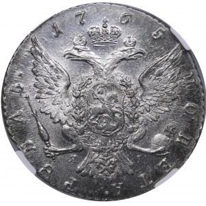 Russia Rouble 1765 СПБ-ЯI - ННР MS60