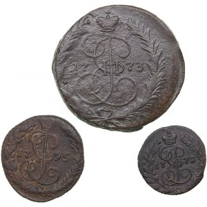 Russia 2 kopeks 1773, Denga 1795, Polushka 1772 (3)
