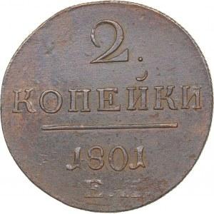 Russia 2 kopeks 1801 EM