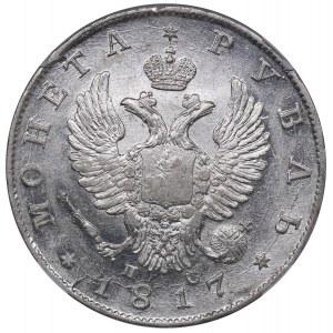 Russia Rouble 1817 СПБ-ПС - ННР MS61