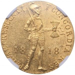 Russia Ducat 1818 - Russian imitation of Netherlands gold ducat - NGC MS 62