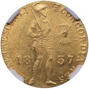 Russia Ducat 1837 - Russian imitation of Netherlands gold ducat - NGC MS 62+
