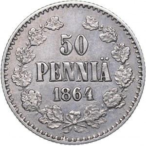 Russia - Grand Duchy of Finland 50 pennia 1864 S