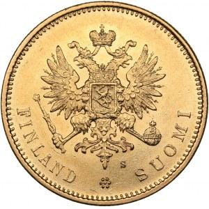 Russia - Grand Duchy of Finland 20 markkaa 1879 S