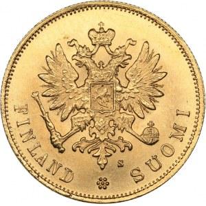 Russia - Grand Duchy of Finland 10 markkaa 1882 S