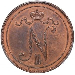 Russia - Grand Duchy of Finland 10 penniä 1897 - PCGS UNC Details
