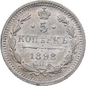 Russia 5 kopecks 1898 СПБ-АГ