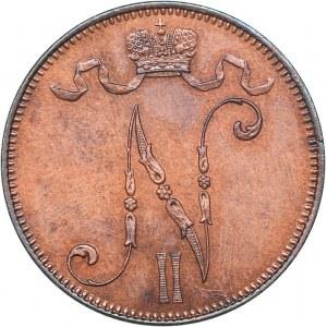 Russia - Grand Duchy of Finland 5 penniä 1898