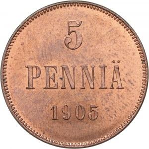 Russia - Grand Duchy of Finland 5 penniä 1905