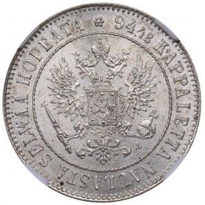 Russia - Grand Duchy of Finland 1 markkaa 1907 L - NGC MS 63