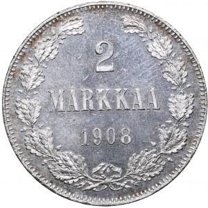 Russia - Grand Duchy of Finland 2 markkaa 1908