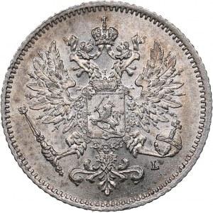 Russia - Grand Duchy of Finland 25 penniä 1908 L