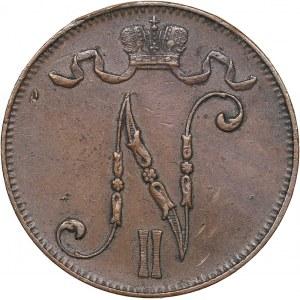 Russia - Grand Duchy of Finland 5 penniä 1910