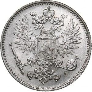 Russia - Grand Duchy of Finland 50 penniä 1911 L