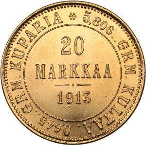 Russia - Grand Duchy of Finland 20 markkaa 1913 S
