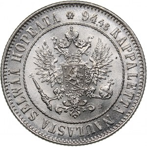 Russia - Grand Duchy of Finland 1 markkaa 1915 S