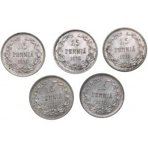 Russia - Grand Duchy of Finland 25 penniä 1915 S (5)