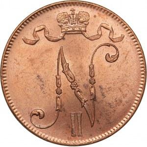 Russia - Grand Duchy of Finland 5 penniä 1915