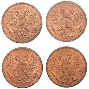 Russia - Grand Duchy of Finland 1 penni 1917 (4)