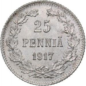 Russia - Grand Duchy of Finland 25 penniä 1917 S