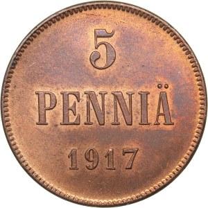 Russia - Grand Duchy of Finland 5 penniä 1917