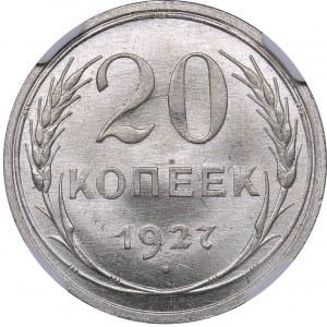 Russia - USSR 20 kopeks 1927 - NGC MS 66