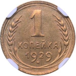Russia - USSR 1 kopek 1929 - NGC MS 65