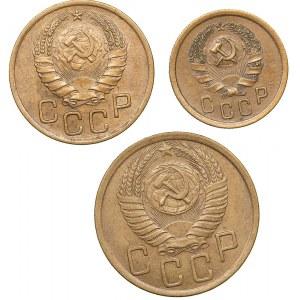 Russia - USSR 5 kopek 1950, 3 kopeks 1939, 2 kopeks 1935 (3)